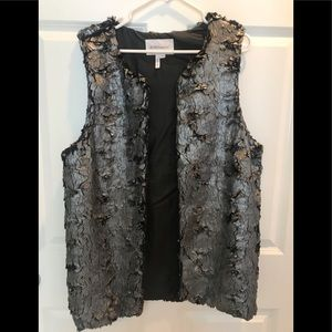 BCBG Generation Size M Silver/Black Vest